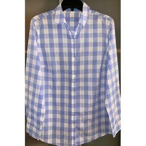 J. McLaughlin Gingham Button Down Shirt Blouse
